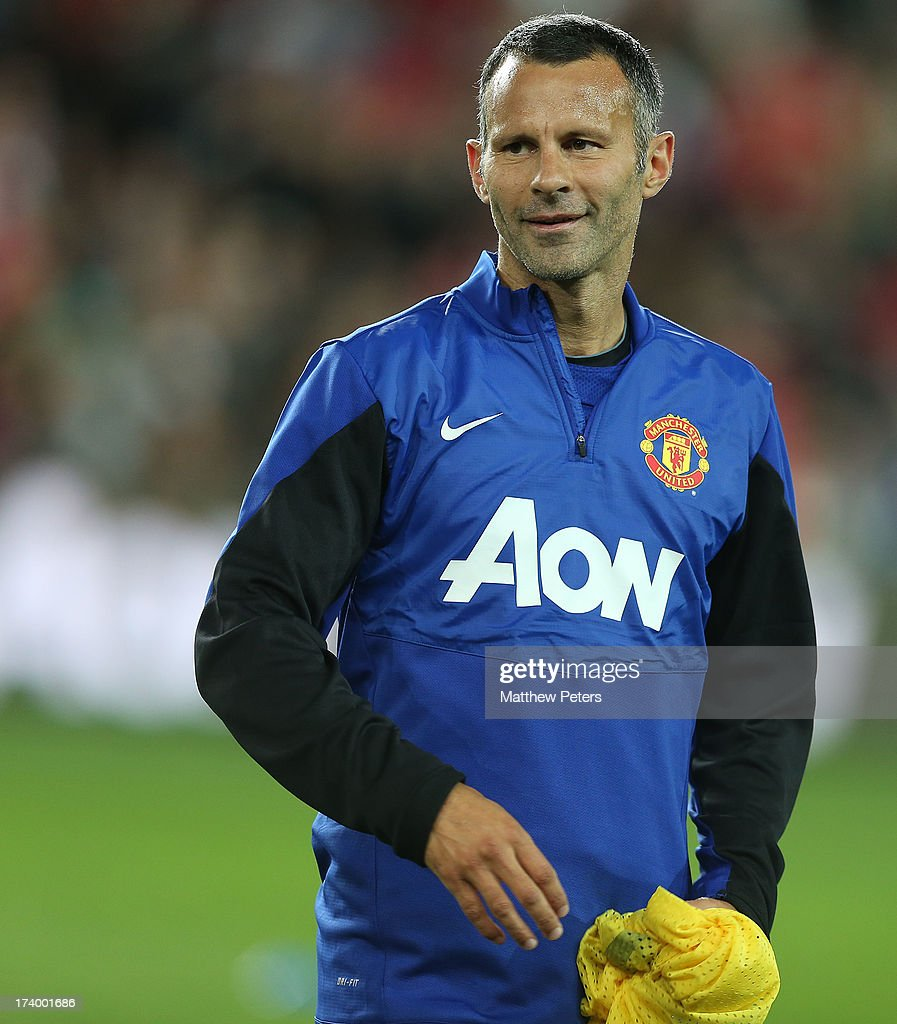 Ryan Giggs of Manchester United in action during a first team training session as part of their pre-season tour of Bangkok, Australia, China, Japan and Hong Kong on July 19, 2013 in Sydney, Australia.