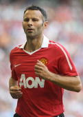 Ryan Giggs of Manchester United in action during the preseason friendly against Celtic at Rogers Centre on July 16 2010 in Toronto Canada