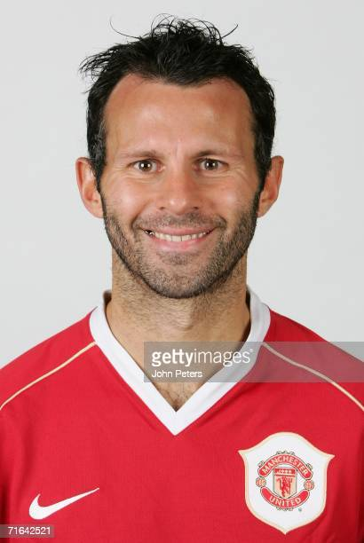 Ryan Giggs of Manchester United poses during an official photocall at Carrington Training Ground on August 10 2006 in Manchester England