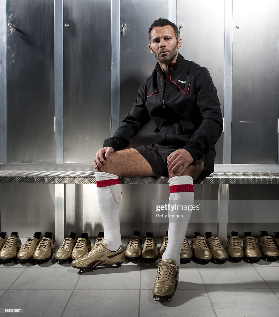 MANCHESTER � MARCH 18; <a gi-track='captionPersonalityLinkClicked' href=/galleries/search?phrase=Ryan+Giggs&family=editorial&specificpeople=201666 ng-click='$event.stopPropagation()'>Ryan Giggs</a> of Manchester United poses for a portrait session wearing the Reebok RG800 football boot on March 18, 2010 in Manchester, England.