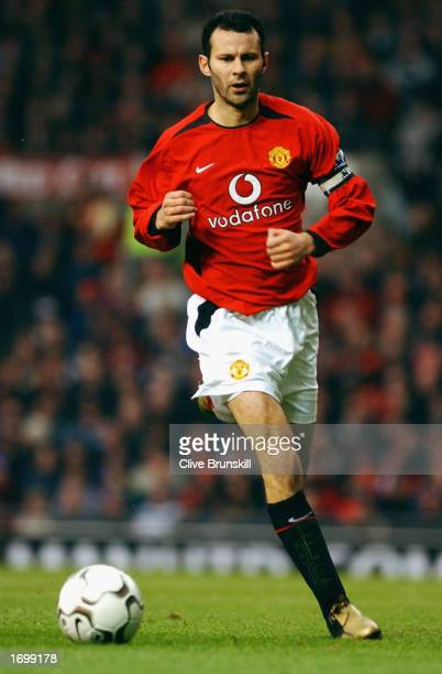 Ryan Giggs of Manchester United running to the ball during the FA Barclaycard Premiership match between Manchester United v West Ham United held on...