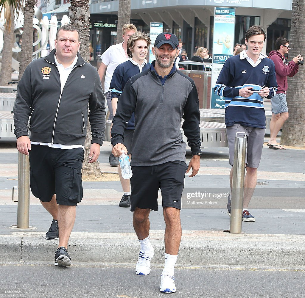 <a gi-track='captionPersonalityLinkClicked' href=/galleries/search?phrase=Ryan+Giggs&family=editorial&specificpeople=201666 ng-click='$event.stopPropagation()'>Ryan Giggs</a> of Manchester United visits Manley Beach as part of their pre-season tour of Bangkok, Australia, China, Japan and Hong Kong on July 19, 2013 in Sydney, Australia.