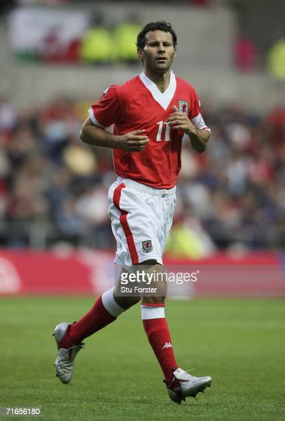 Ryan Giggs of Wales makes a run during the International friendly match between Wales and Bulgaria at The Liberty Stadium on August 15 2006 in...