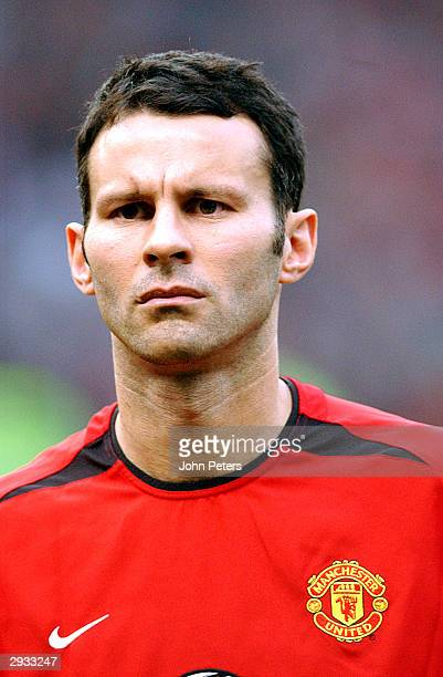 Ryan Giggs prior to the UEFA Champions League Quarter Final Second Leg match between Manchester United FC v Real Madrid at Old Trafford on April 22...