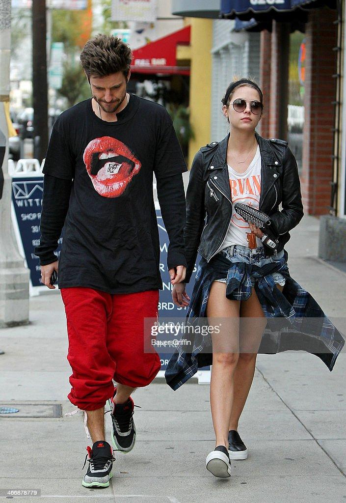 Ryan Good and Ashley Benson seen on February 04, 2014 in Los Angeles, California.
