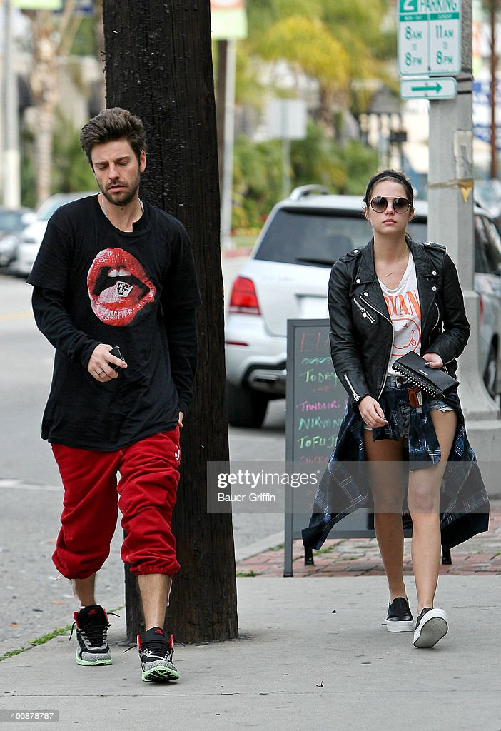 Ryan Good and Ashley Benson seen on February 04, 2014 in Los Angeles, California.
