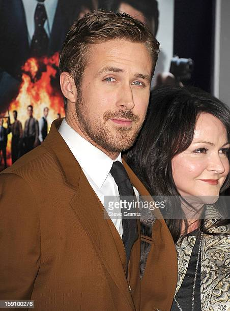 Ryan Gosling arrives at the 'Gangster Squad' Los Angeles Premiere at Grauman's Chinese Theatre on January 7 2013 in Hollywood California