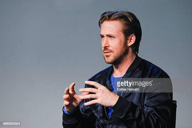 Ryan Gosling attends Apple Store Soho Presents Meet The Filmmaker Ryan Gosling 'Lost River' at Apple Store Soho on April 11 2015 in New York City
