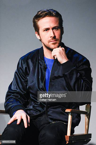 Ryan Gosling attends Apple Store Soho Presents Meet The Filmmaker Ryan Gosling 'Lost River' at Apple Store Soho on April 11 2015 in New York City