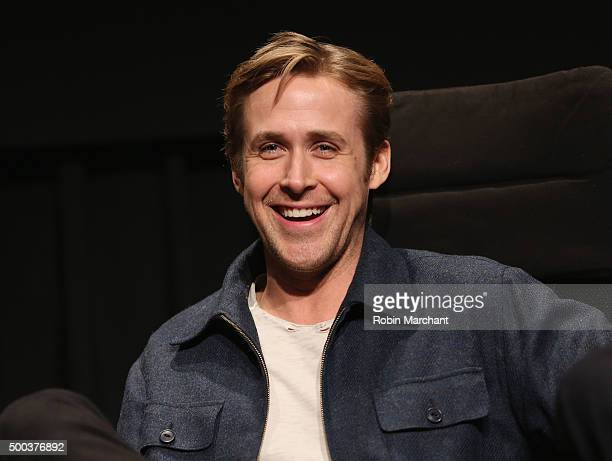 Ryan Gosling attends The Academy Of Motion Picture Arts And Sciences Hosts An Official Academy Screening Of THE BIG SHORT on December 7 2015 in New...