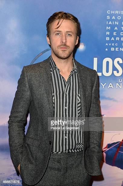 Ryan Gosling attends the Paris Premiere of the 'Lost River' film on April 7 2015 in Paris France