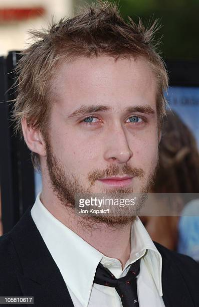 Ryan Gosling during 'The Notebook' World Premiere Arrivals at Mann Village Theatre in Westwood California United States