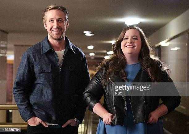 LIVE 'Ryan Gosling' Episode 1690 Pictured Ryan Gosling and Aidy Bryant on December 1 2015