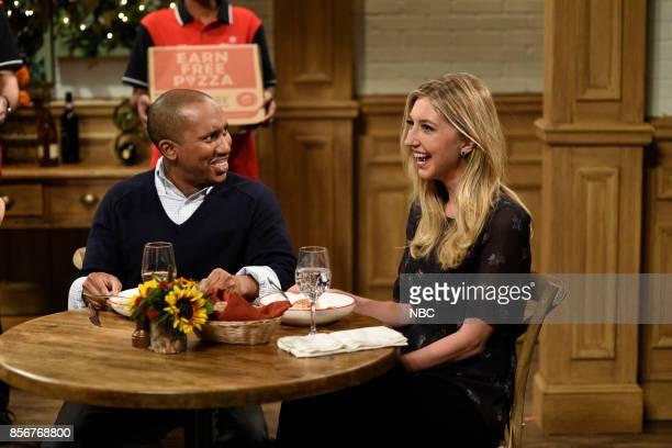 LIVE 'Ryan Gosling' Episode 1726 Pictured Chris Redd Heidi Gardner during 'Italian Restaurant' in studio 8H on September 30 2017