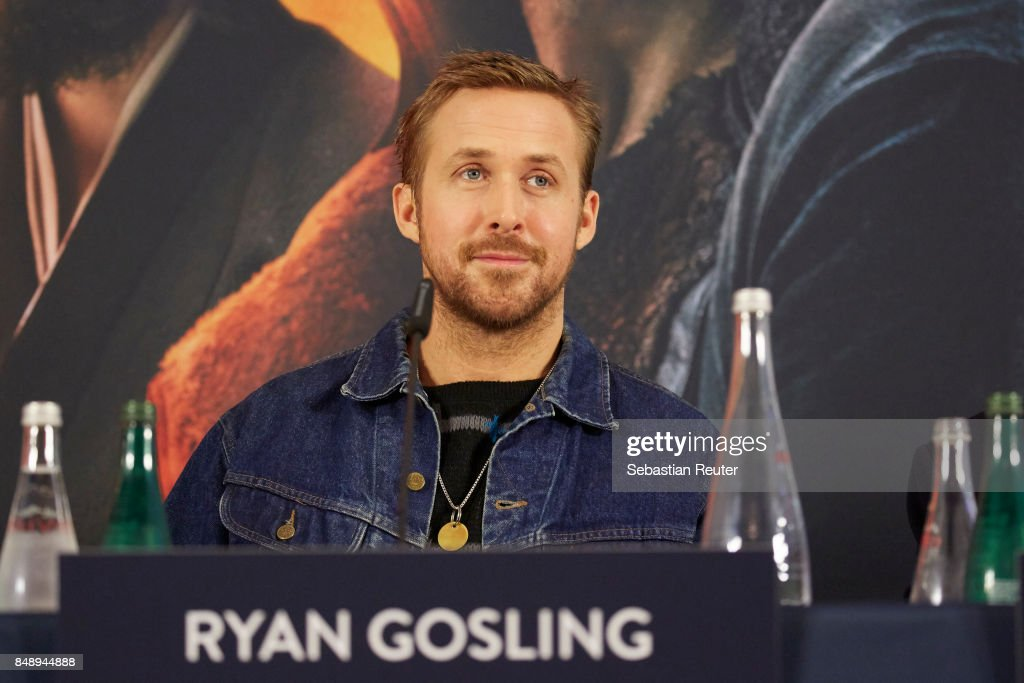 Ryan Gosling is seen at a press panel at Hotel Adlon on September 18, 2017 in Berlin, Germany.