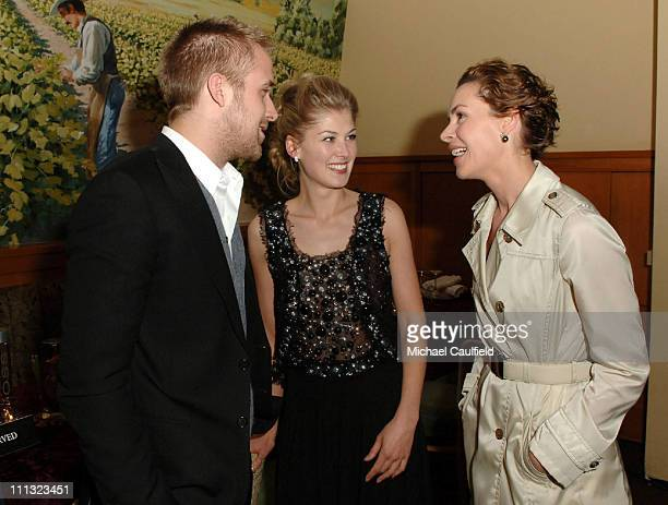 Ryan Gosling Rosamund Pike and Embeth Davidtz during 'Fracture' Los Angeles Premiere After Party in Los Angeles California United States