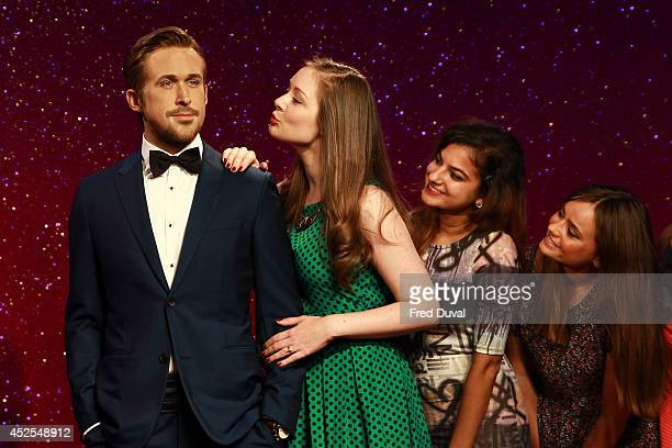 Ryan Gosling wax likeness is admired by fans as Madame Tussauds unveil their new Ryan Gosling wax figure at Madame Tussauds on July 23 2014 in London...