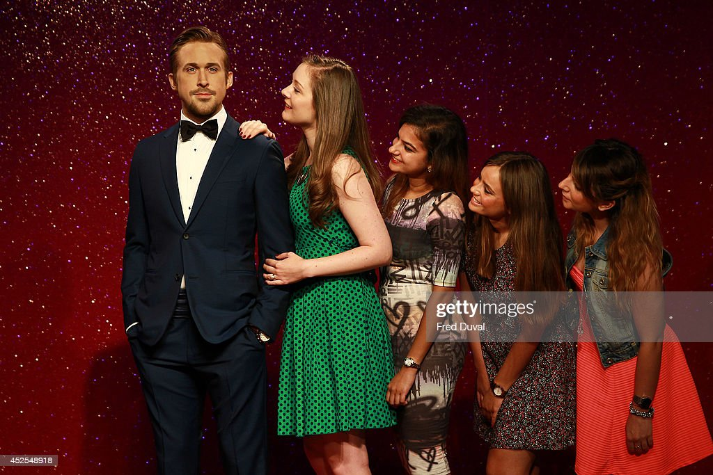 Ryan Gosling wax likeness is admired by fans as Madame Tussauds unveil their new Ryan Gosling wax figure at Madame Tussauds on July 23, 2014 in London, England.