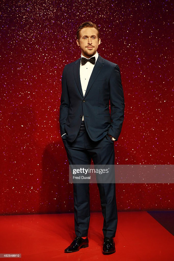 <a gi-track='captionPersonalityLinkClicked' href=/galleries/search?phrase=Ryan+Gosling&family=editorial&specificpeople=214557 ng-click='$event.stopPropagation()'>Ryan Gosling</a> wax likeness Madame Tussauds unveil their new <a gi-track='captionPersonalityLinkClicked' href=/galleries/search?phrase=Ryan+Gosling&family=editorial&specificpeople=214557 ng-click='$event.stopPropagation()'>Ryan Gosling</a> wax figure at Madame Tussauds on July 23, 2014 in London, England.