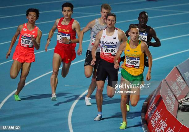Ryan Gregson of Australia competes in the Men 1 Mile Run Elimination during the 2017 Nitro Athletics Series at Lakeside Stadium on February 9 2017 in...
