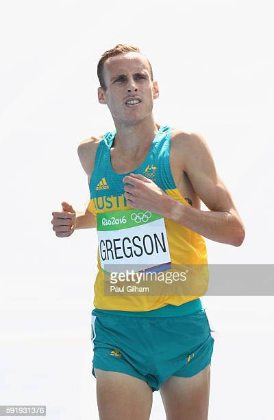 Ryan Gregson of Australia is seen during the Men's 1500m Round 1 on Day 11 of the Rio 2016 Olympic Games at the Olympic Stadium on August 16 2016 in...
