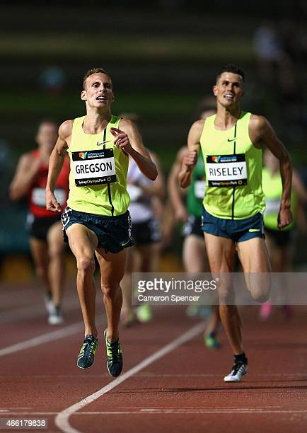 Ryan Gregson of New South Wales competes in the mens 1500m during the Sydney Track Classic at Sydney Olympic Park on March 14 2015 in Sydney Australia