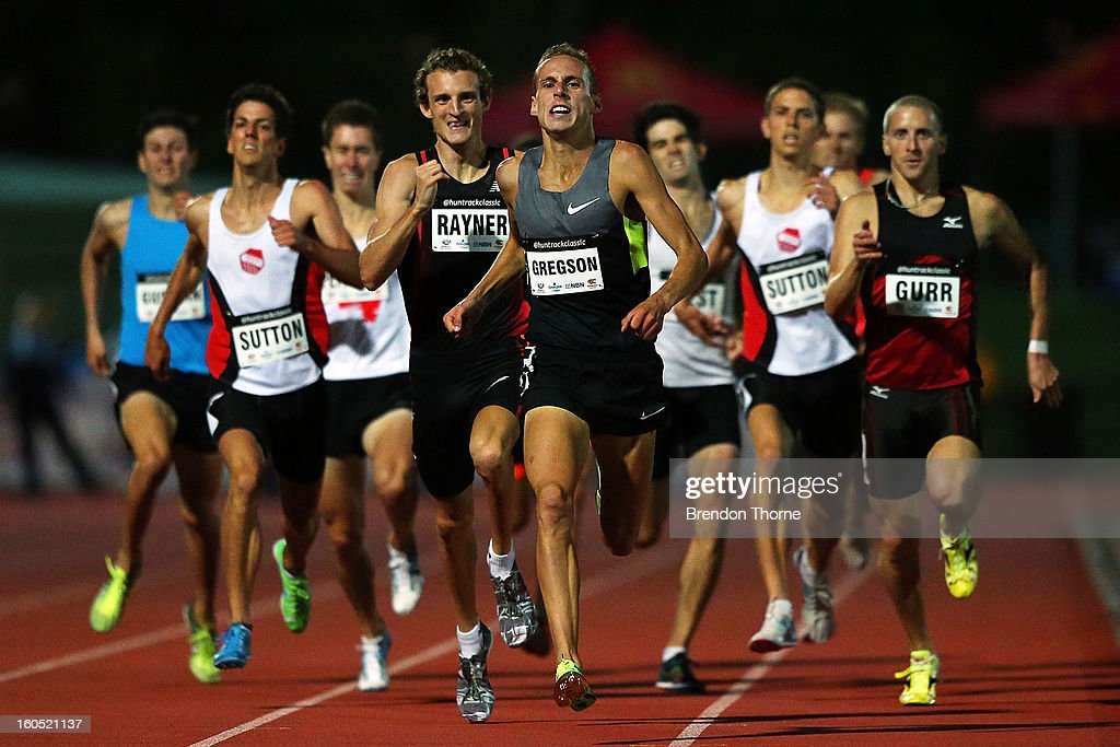 Ryan Gregson of NSW competes in the Men's 800 metre during the Hunter Track Classic on February 2, 2013 in Newcastle, Australia.