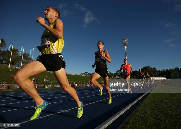 Ryan Gregson of Victoria competes in the mens open 1500m during day six of the Australian Athletics Championships at Sydney Olympic Park Athletic...