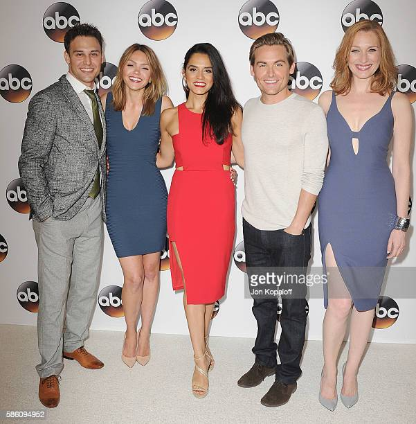 Ryan Guzman Aimee Teegarden Sepideh Moafi Kevin Zegers and Kate Jennings Grant arrive at Disney ABC Television Group Hosts TCA Summer Press Tour at...