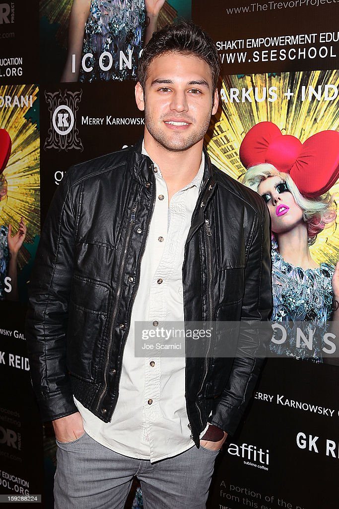 Ryan Guzman arrives at Markus + Indrani Icons book launch party hosted by Carmen Electra benefiting The Trevor Project at Merry Karnowsky Gallery & Graffiti on January 10, 2013 in Los Angeles, California.