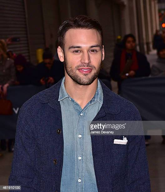 Ryan Guzman arrives to 'HuffPost Live' on January 21 2015 in New York City