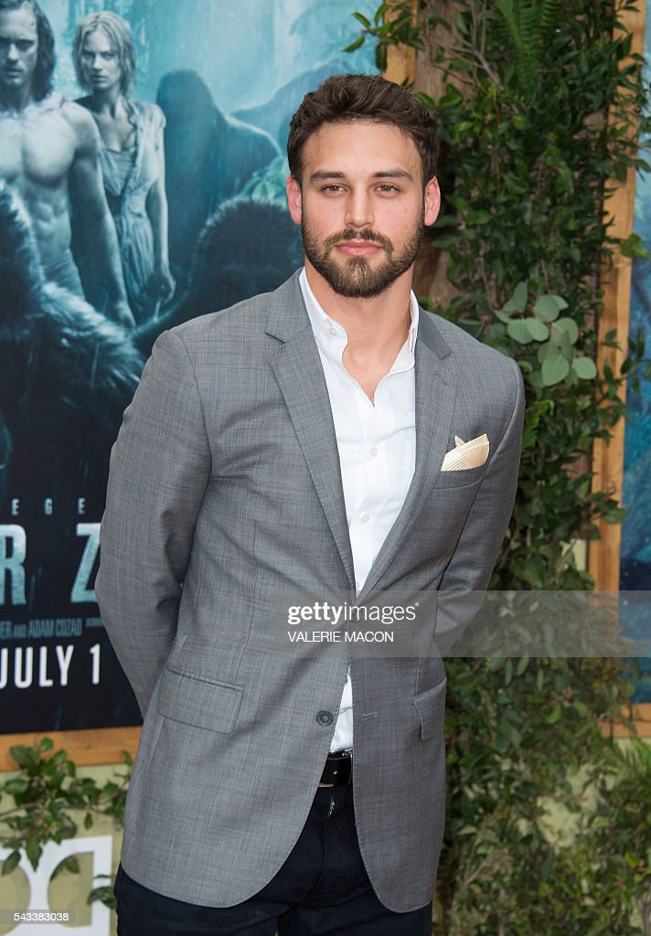 Ryan Guzman attends the world premiere of 'The Legend of Tarzan' in Hollywood, California, on June 27, 2016. / AFP / VALERIE