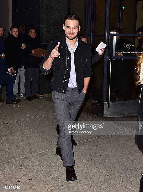 Ryan Guzman leaves 'Watch What Happens Live' on January 20 2015 in New York City