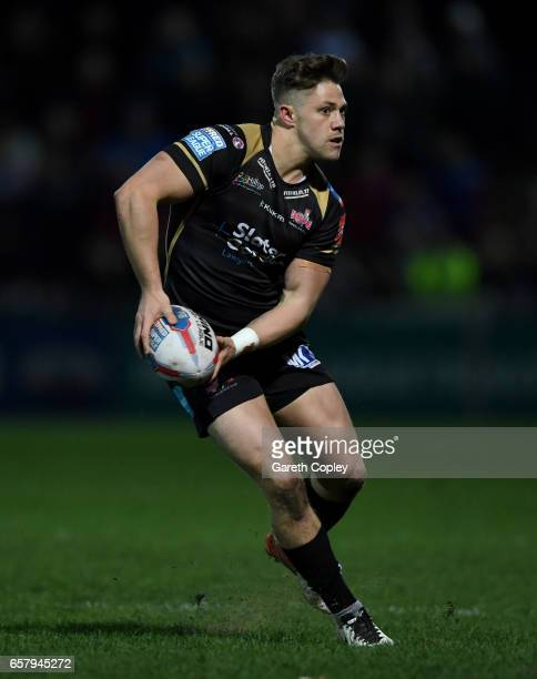 Ryan Hampshire of Leigh during the Betfred Super League match between Wakefield Trinity and Leigh Centurions at Belle Vue on March 23 2017 in...