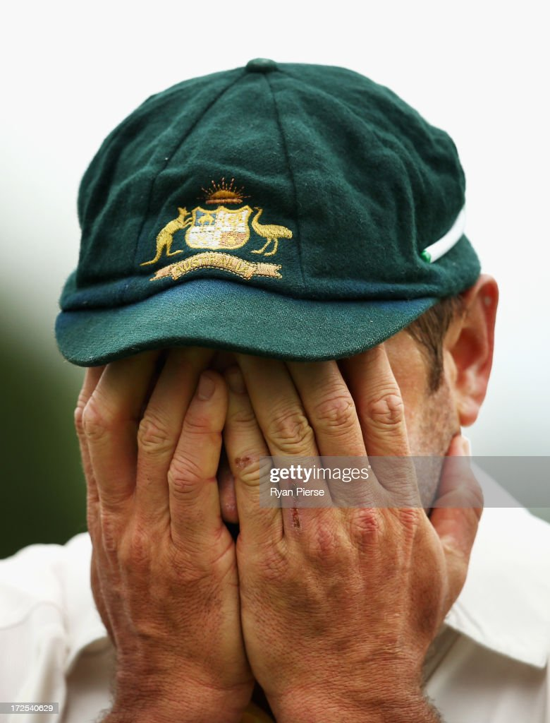 Ryan Harris of Australia looks on from the field during day two of the Tour Match between Worcestershire and Australia at New Road at New Road on July 3, 2013 in Worcester, England.