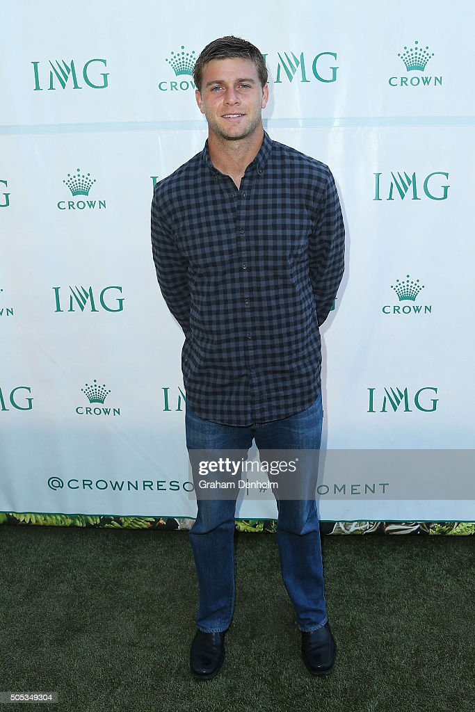 Ryan Harrison of the United States arrives at the 2016 Australian Open party at Crown Entertainment Complex on January 17, 2016 in Melbourne, Australia.
