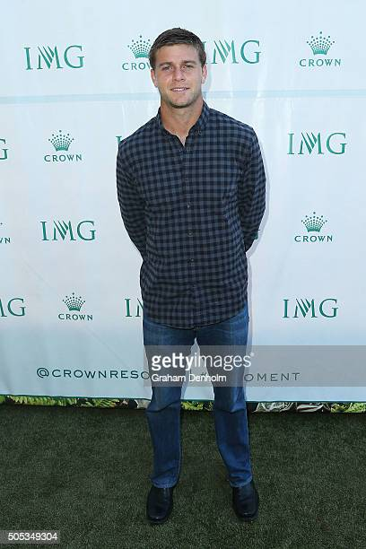 Ryan Harrison of the United States arrives at the 2016 Australian Open party at Crown Entertainment Complex on January 17 2016 in Melbourne Australia