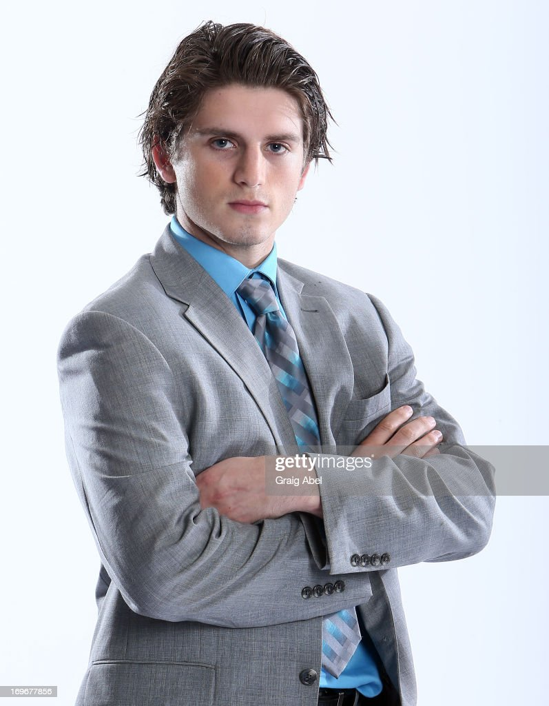 Ryan Hartman has his formal portrait taken during the 2013 NHL Combine May 30, 2013 at the Westin Bristol Place Hotel in Toronto, Ontario, Canada.