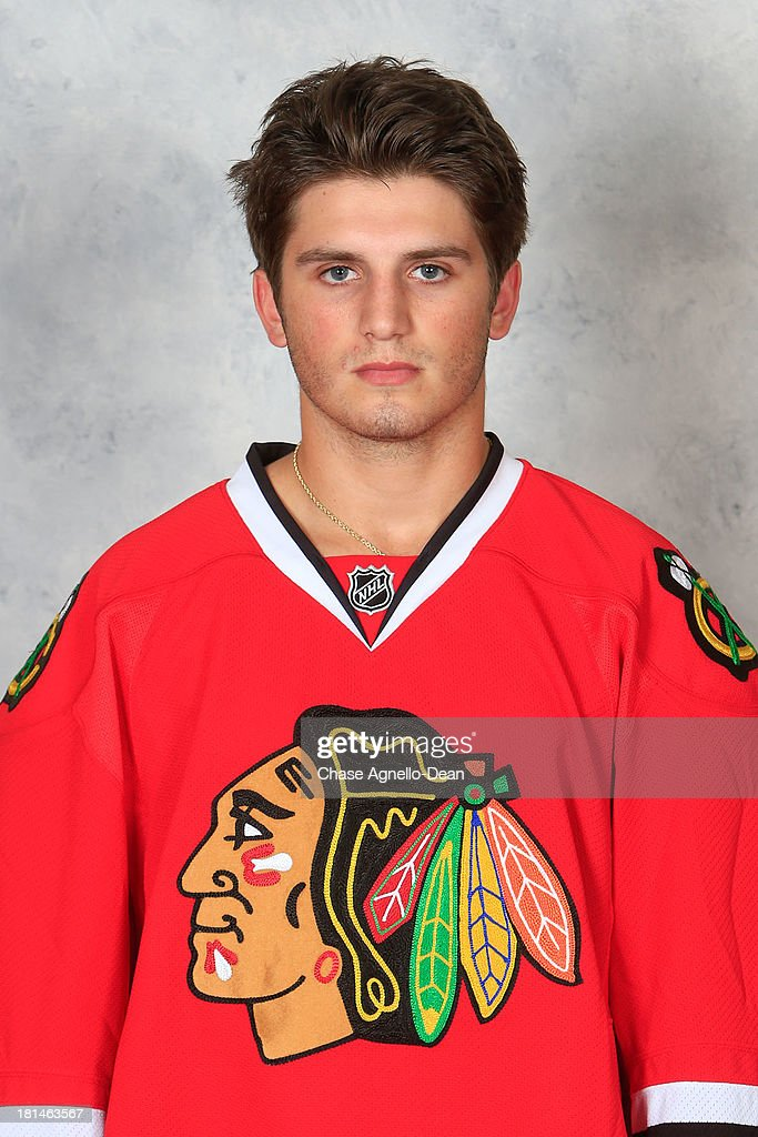 <a gi-track='captionPersonalityLinkClicked' href=/galleries/search?phrase=Ryan+Hartman&family=editorial&specificpeople=9156569 ng-click='$event.stopPropagation()'>Ryan Hartman</a> #38 of the Chicago Blackhawks poses for his official headshot for the 2013-2014 season on September 11, 2013 at the United Center in Chicago, Illinois.