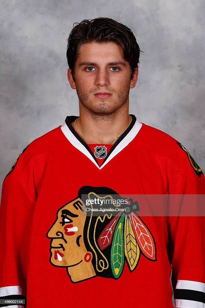 <a gi-track='captionPersonalityLinkClicked' href=/galleries/search?phrase=Ryan+Hartman&family=editorial&specificpeople=9156569 ng-click='$event.stopPropagation()'>Ryan Hartman</a> #38 of the Chicago Blackhawks poses for his official headshot for the 2014-2015 season on September 18, 2014 at the United Center in Chicago, Illinois.