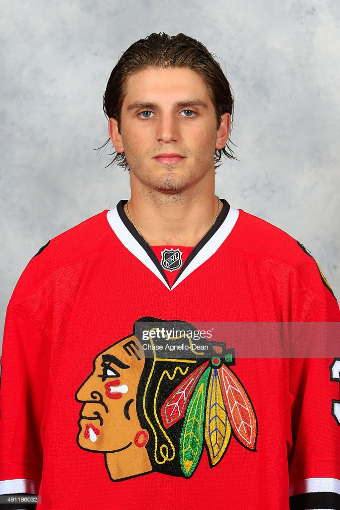 <a gi-track='captionPersonalityLinkClicked' href=/galleries/search?phrase=Ryan+Hartman&family=editorial&specificpeople=9156569 ng-click='$event.stopPropagation()'>Ryan Hartman</a> #38 of the Chicago Blackhawks poses for his official headshot for the 2015-2016 season on September 16, 2015 at the United Center in Chicago, Illinois.