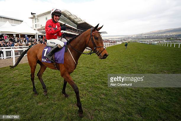 Ryan Hatch riding Blaklion wins The RSA Steeple Chase at Cheltenham racecourse on March 16 2016 in Cheltenham England