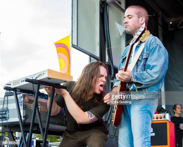 Ryan Hater and Tony Esposito of White Reaper perform during Austin City Limits Festival at Zilker Park on October 15 2017 in Austin Texas