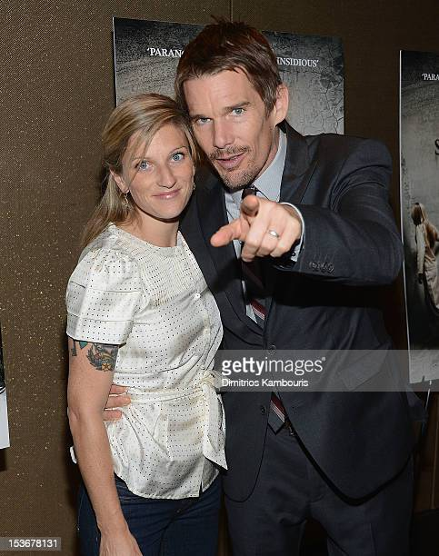 Ryan Hawke and actor Ethan Hawke attend the 'Sinister' premiere at the Tribeca Grand Hotel on October 8 2012 in New York City