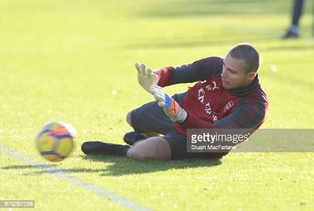 Ryan Huddart of Arsenal during a training session at London Colney on November 17 2017 in St Albans England