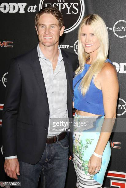 Ryan HunterReay and Beccy Gordon arrive at the BODY at ESPYS PreParty held at Lure on July 15 2014 in Hollywood California