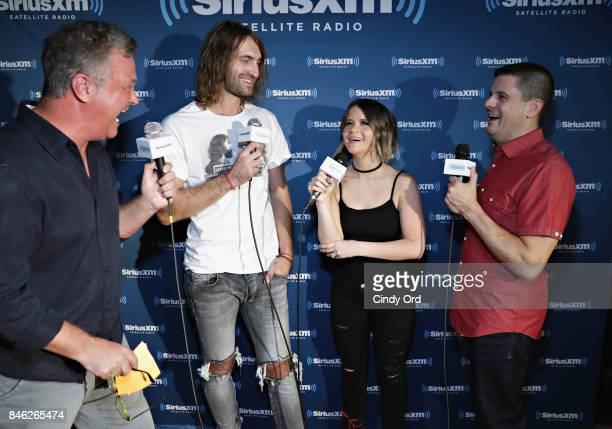 Ryan Hurd and Maren Morris are interviewed by SiriusXM hosts Buzz Brainard and Al Skop before performing a private concert for SiriusXM at The...