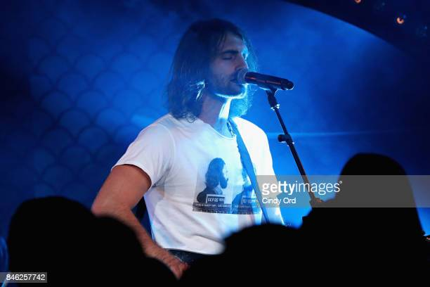 Ryan Hurd opens for Maren Morris at private concert for SiriusXM at The McKittrick Hotel on September 12 2017 in New York City