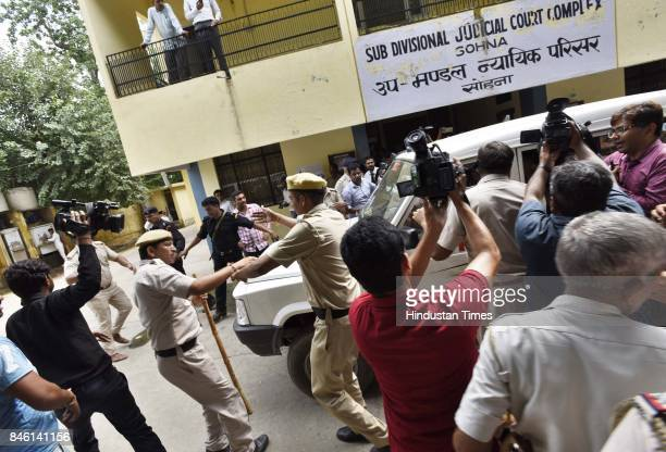 Ryan International School student murder accused Ashok Kumar sent to jail to be produced before a special court on September 12 2017 in Gurgaon India...