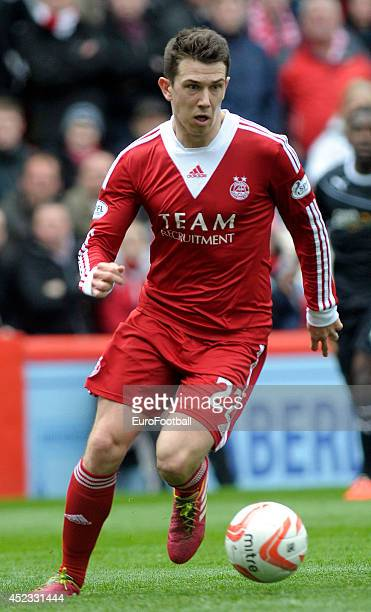Ryan Jack of Aberdeen FC in action during the Scottish Premiere League match between Aberdeen FC and Motherwell FC at Pittodrie Stadium on May 11...